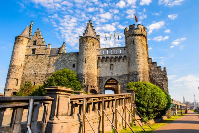Belgium Flanders Antwerp Het Steen castle Anton_Ivanov shutterstock_294244373