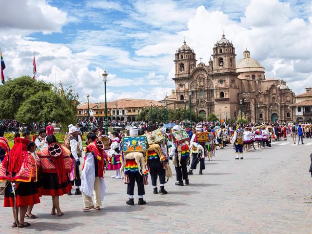 Peru Cuzco Cusco Plaza de Armas Vladislav T. Jirousek shutterstock_240373324