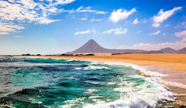 Spain Canary Islands Fuerteventura beach volcano science photo shutterstock_139173074