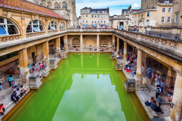 Great Britain England Bath Roman Baths Christian Mueller shutterstock_301237628