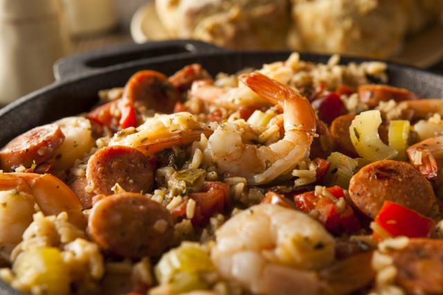 cooking schools classes New Orleans Cajun jambalaya shutterstock_250649422