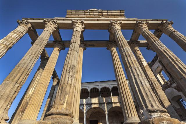 Spain Roman Extremadura Mérida Temple Diana Cortyn shutterstock_341445803