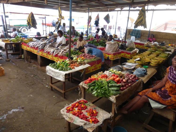 West Africa Equatorial Guinea Malabo market Ruta 47