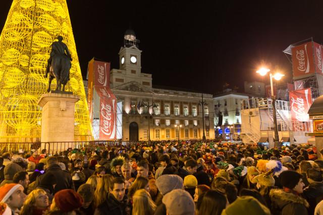 Spain Madrid Puerta del Sol New Year's Eve Semmick Photo shutterstock_242851666