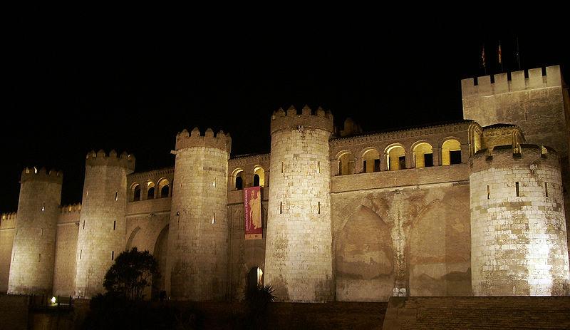 L2F Aug 15 pic Spain Aragon Zaragoza Alfajería Palace Escarlati Wikipedia Flickr