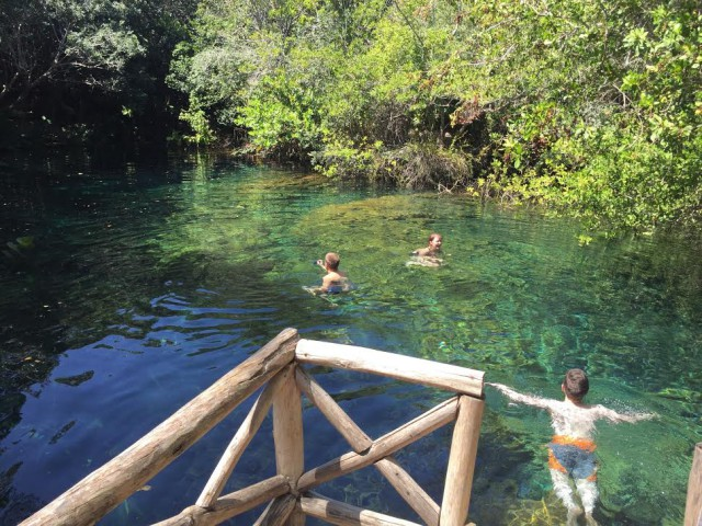 L2F Jan 16 pic Dominican Punta Cana Ojos Indigenas lagoon DPA