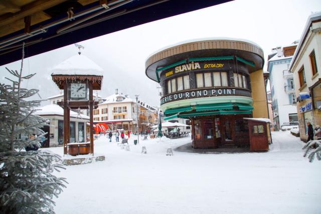 France skiing Chamonix village Nataliya Nazarova shutterstock_341611559