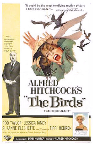 L2F Jan 16 pic USA CA Hitchcock The Birds poster