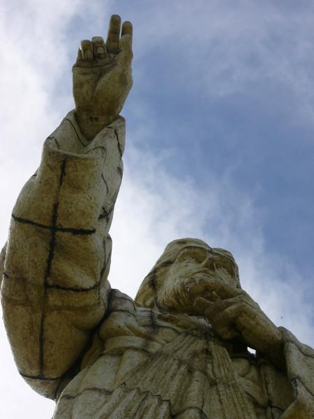 Nicaragua San Juan del Sur Christ statue 3 8-10