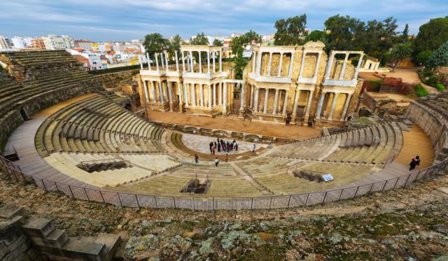 Spain Extremadura Mérida Roman theater Iakov Filimonov shutterstock_313280621