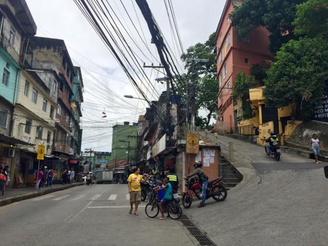 Brazil Rio de Janeiro Rocinha favela street