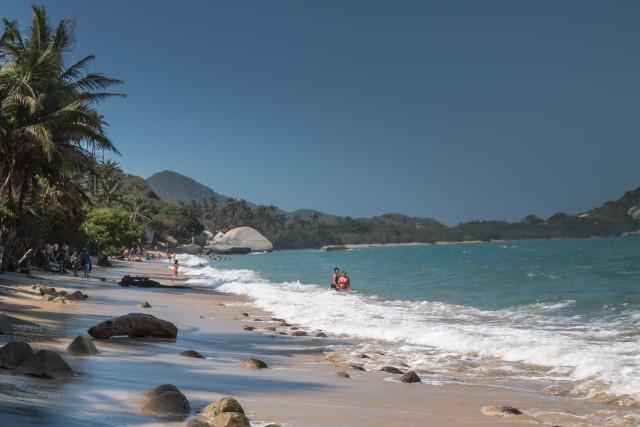 La Piscina Beach, Tayrona, Santa Marta, Colombia