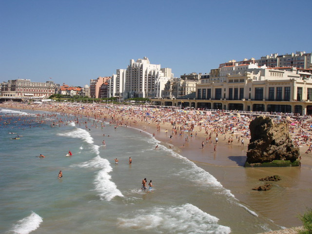 France Biarritz Grand Plage beach Pinpin Wikipedia