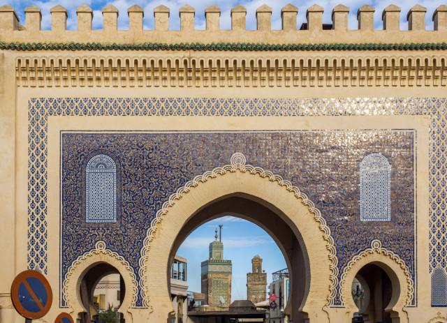 Morocco Fez medina Bab Bou Jeloud Alvaro German Vilela shutterstock_365522225