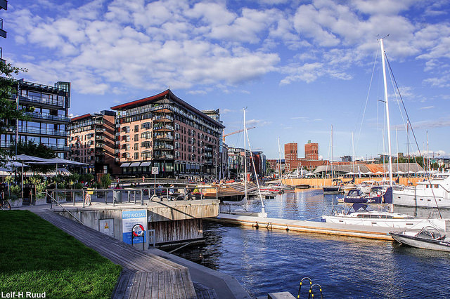 Norway Oslo port with Radhuset Visit Oslo Leif-Harald Ruud Flickr