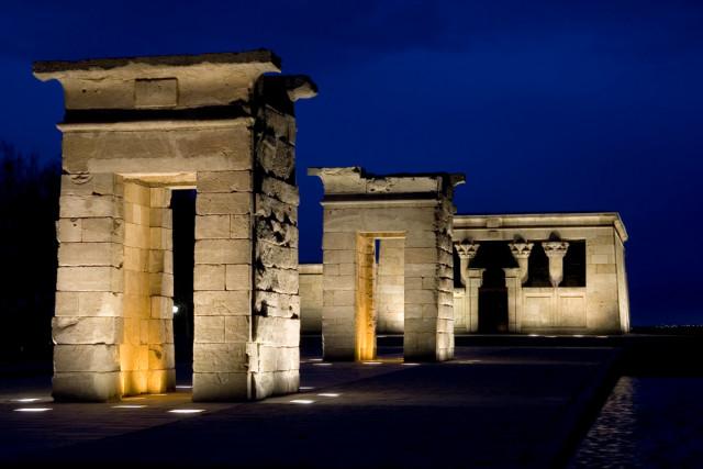 Spain Madrid Templo de Debod night Matt Trommer shutterstock_2676061