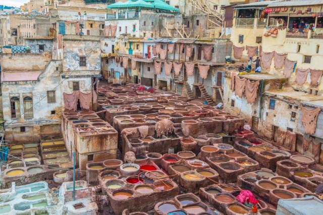 North Africa Morocco Fez medina tannery Pocholo Calapre shutterstock_283368632