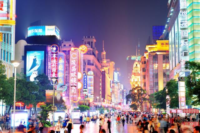 China Shanghai Nanjing Road Songquan Deng shutterstock_161839421
