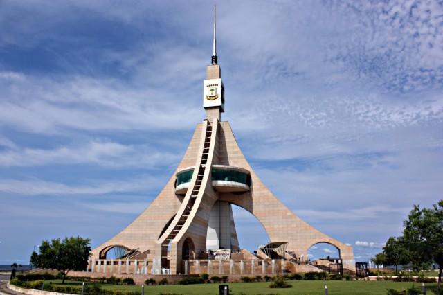 West Africa Equatorial Guinea Bata Torre de Independencia Oscar Scafidi