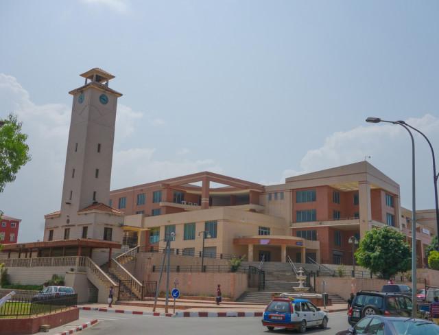 West Africa Equatorial Guinea Bata Torre del Reloj Building alarico shutterstock_250923304