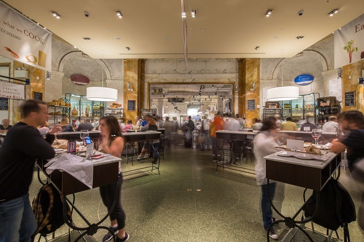 New York City food halls Eataly