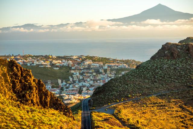 Spain Canary Islands La Gomera overview of San Sebastián RossHelen shutterstock_382189558