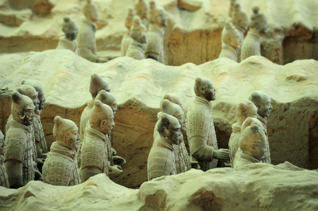 China Xi'an terracotta army Trial shutterstock_128486489