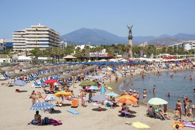 Spain Andalusia Costa del Sol Marbella Puerto Banús beach Roman Babakin shutterstock_261410726