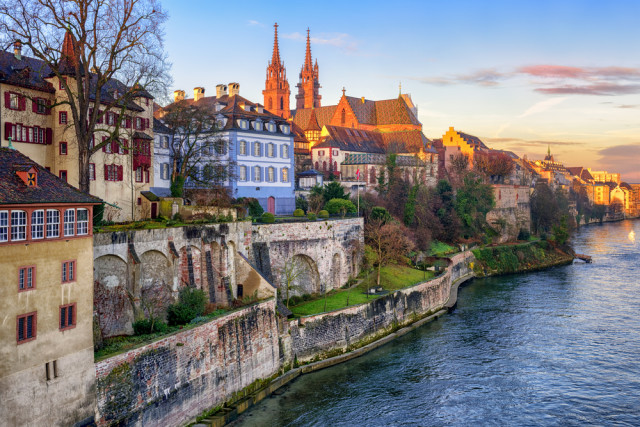 Switzerland Basel Old Town Rhine River Boris Stroujko shutterstock_358181183