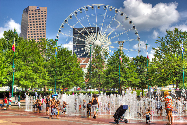 USA Georgia Atlanta Centennial Olympic Park fountain ferris wheel Lee Howard