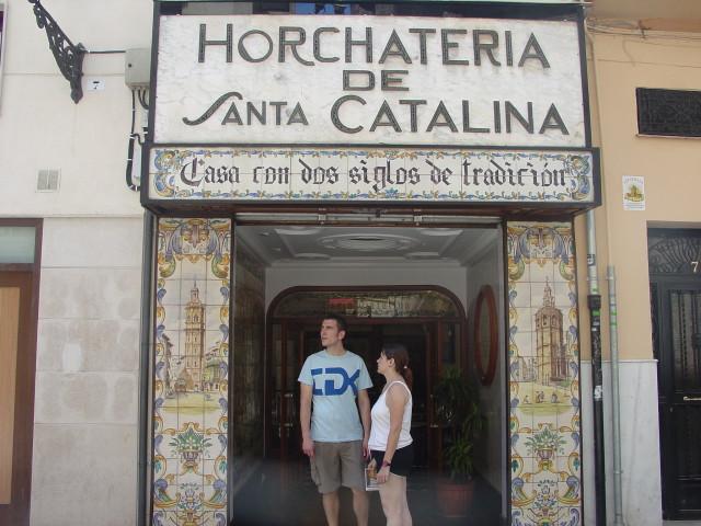 horchata Santa Catalina exterior Valencia
