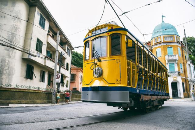 Brazil Rio de Janeiro Santa Teresa bonde streetcar lazyllama shutterstock_431102755