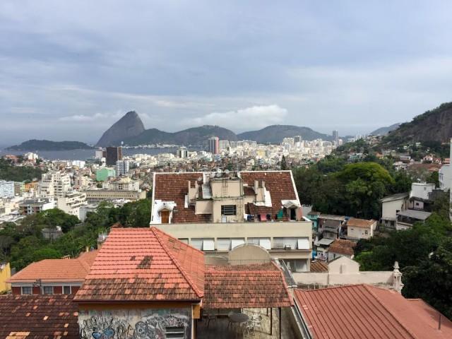 Brazil Rio de Janeiro Santa Teresa view from Parque das Ruinas DPA
