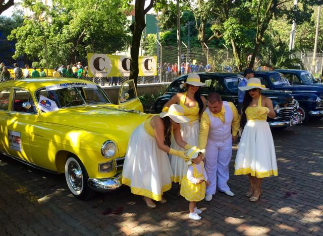 Colombia Medellin flower festival antique auto parade