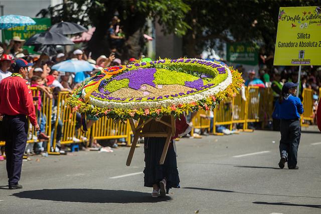 Colombia Medellin silleteros parade