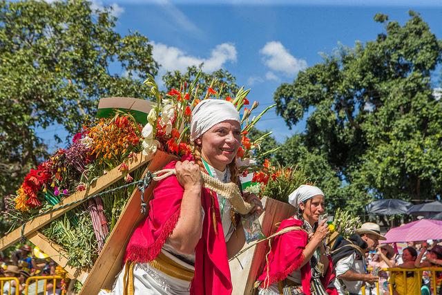 Colombia Medellin flower festival silleteros parade