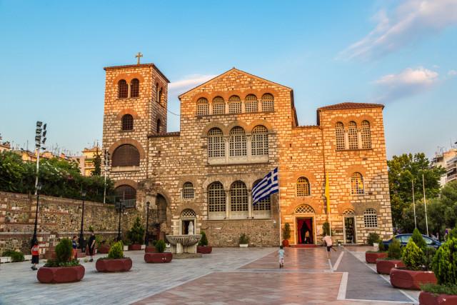 Greece Macedonia Thessaloniki Aghios Demetrios Church S-F shutterstock_366127796