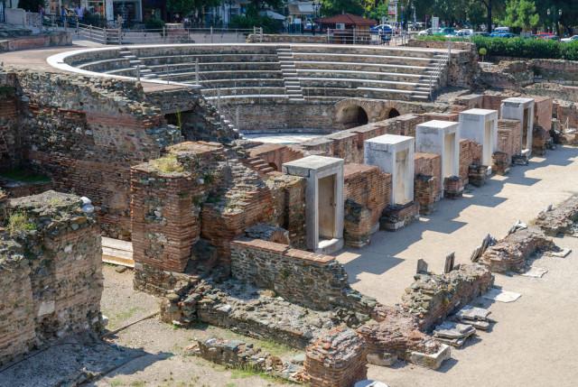 Greece Macedonia Thessaloniki Roman Forum Katsiuba Volha shutterstock_229962961