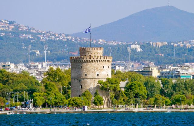 Greece Macedonia Thessaloniki White Tower Alexander Mazurkevich shutterstock_136892735