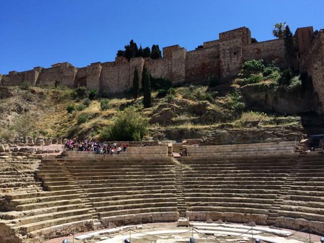 Spain Malaga Roman theatre + Alcazaba