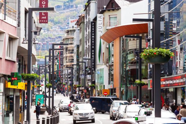 Andorra la Vella commercial street Iakov Filimonov shutterstock_139169912