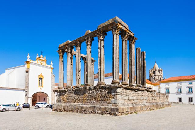 Portugal Alentejo Évora Roman temple of Diana saiko3p shutterstock_254030104