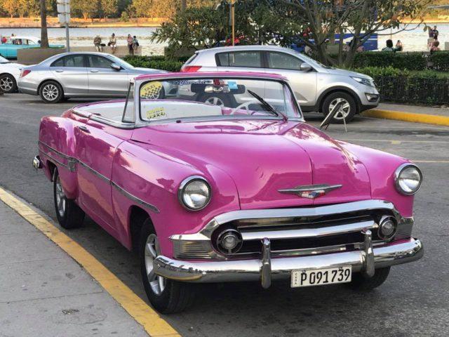L2F Jan 17 pic Cuba Havana classic cars pink Cadillac
