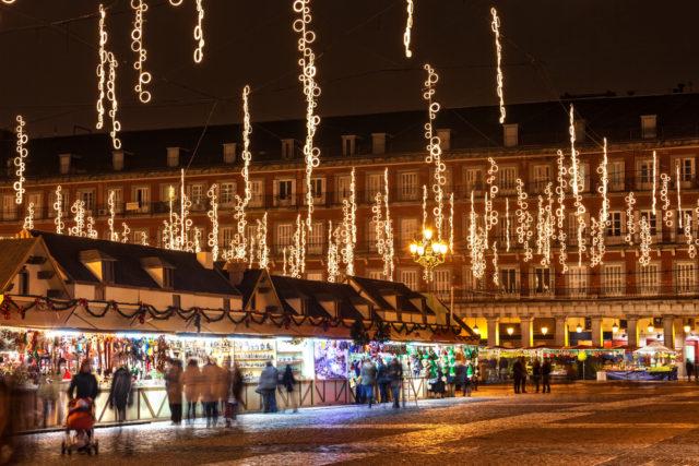 TBP Europe Spain Madrid Christmas market Plaza Mayor Jose Ignacio Soto shutterstock_159048305