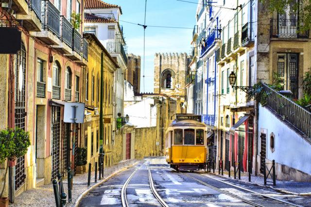 L2F Jan 17 pic Portugal Lisbon film locations Alfama tram shutterstock_160977977