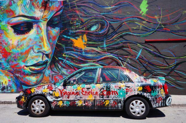 L2F Jan 17 pic USA Florida Miami Wynwood wall art with car shutterstock_239572255