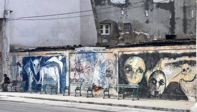 L2F Mar 17 pic Cuba Havana street art Paseo del Prado triptych