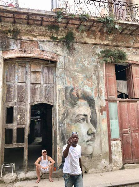 L2F Mar 17 pic Cuba Havana street art woman on facade