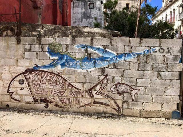 L2F Mar 17 pic Cuba Havana street art woman with fish