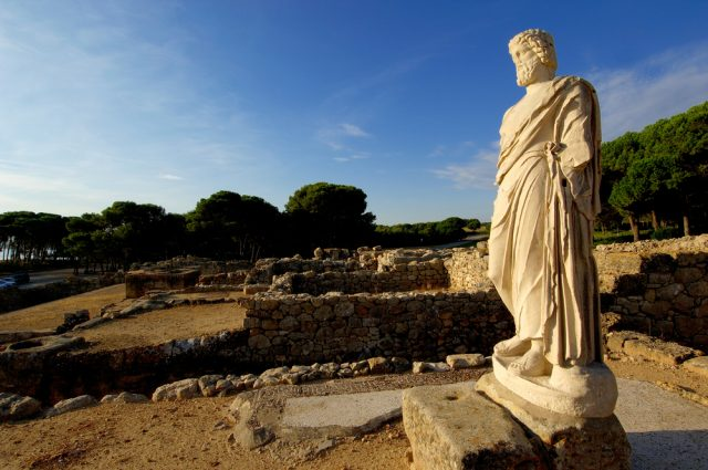 L2F Mar 17 pic Spain Catalonia Girona Empuries Asklepius statue shutterstock_558174775